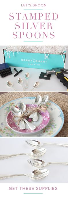 Stamped Silver Spoons DIY from #Darbysmart