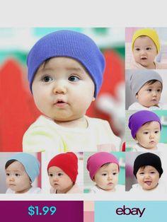 a33242b1d87 Dreamshining Baby Hat Kids Newborn Knitted Cap Crochet Solid ...