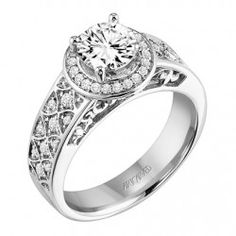 Nola ArtCarved Diamond Engagement Ring