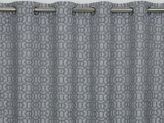 Mosaic Silver Eyelet Curtains