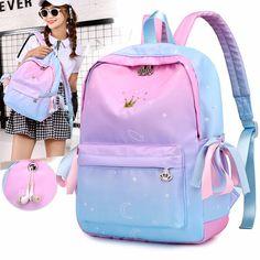 Buy Orthopedic Backpacks School Children Schoolbags For Girls Primary School Book Bag School Bags Printing Backpack Sac Ecolier Pink Cute School Bags, School Bags For Girls, Girls Bags, School Children, Cute Girl Backpacks, School Backpacks, Teen Backpacks, Mochila Floral, Backpack Bags