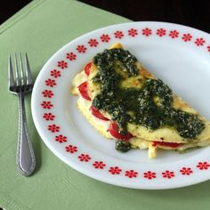 Kitchen Trial and Error: caprese omelet with pesto