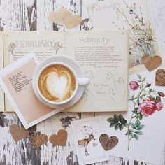 "| February | ❤ Morning Coffee & Words ""She had always wanted words, she loved them; grew up on them. Words gave her clarity, brought reason, shape."" ~Michael Ondaatje, The English Patient"