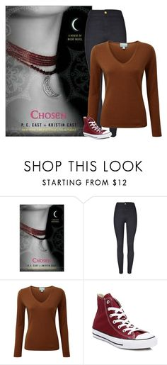 Chosen - P.C.Cast + Kristin Cast by ninette-f on Polyvore featuring Pure Collection, WithChic, Converse and Nook