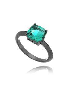 anel solitario rodio negro com pedra turmalina semi joias de luxo Pedra  Turmalina, Aneis Da 8470792dab