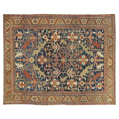 "Antique Heriz Carpet 9'7""x12 