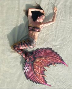 Phoenix Silicone Mermaid Tail. Apparently Mertailor tails don't wear as well as they photograph, unfortunately, but artistically they're amazing.