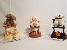 Mecedoras de Choco Blanco, Negro o Con Leche, con peluche. Figuras de chocolate en Gijón. San Antonio, Teddy Bear, Toys, Cake, Desserts, Animals, Buns, Milk, Godchild
