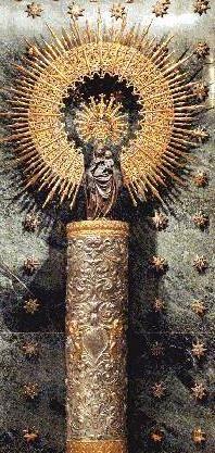 our lady of the pillar drawing zaragoza   La Virgen del Pilar, Gran Madre de la Hispanidad