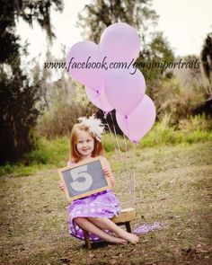 birthday photography 5 yr old photography balloon props child photography