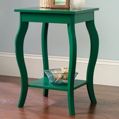 Laurel Foundry Modern Farmhouse Nedlands End Table Color: Emerald Green Tall End Tables, End Table Sets, End Tables With Storage, Side Tables, Furniture Sale, Furniture Making, Custom Furniture, Oval Table, Coffee Table Design