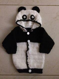 Not My Nana's Crochet!: Hooded Baby Panda Sweater - Free Pattern