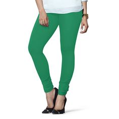 Lux Lyra Women's Green Cotton Indian Churidar Leggings  Color : Green color Fabric : 95% Cotton & 5% Spandex Style : Indian Churidar Comfort, Durability & flexibilty Leggings Wash Care : hand wash And dry clean