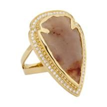Pamela Love Fine Jewelry Jasper, Diamond & Gold Arrowhead Ring