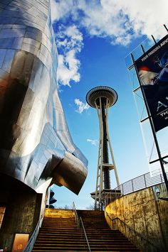 Seattle Space Needle + Experience Music Project