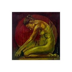 NOVICA Woman in Prayer Signed Original Mixed Media Nude Painting (1.570 NOK) ❤ liked on Polyvore featuring home, home decor, wall art, expressionist paintings, green, paintings, oil painting, mixed media painting, novica home decor and green wall art