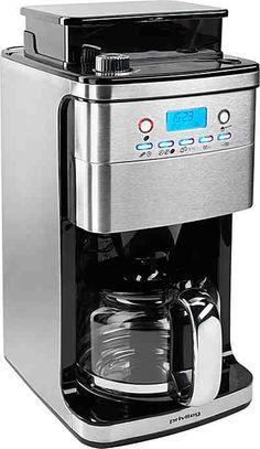 Privileg Kaffeemaschine mit Mahlwerk, Glaskanne für 1,5 Liter, Edelstahlgehäuse