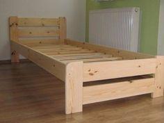 Dřevěná masivní postel 80 x 200 cm + rošt Decor, Furniture, Outdoor Decor, Toddler Bed, Storage Bench, Outdoor Furniture, Home Decor, Bed, Storage