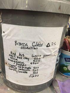Image result for lucie rie bronze glaze recipe