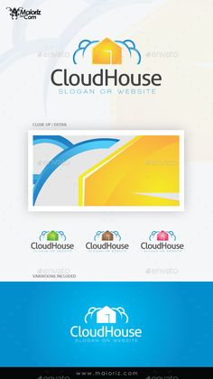 Cloud House Logo Template — Vector EPS #dwelling house #reservoir • Available here → https://graphicriver.net/item/cloud-house-logo-template/9373640?ref=pxcr