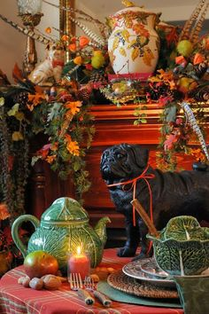The Domestic Curator: 55 Inspired Mantels For Thanksgiving