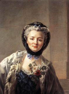 Madame Drouais, wife of artist Francois-Hubert Drouais 1758