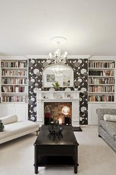 How to Wallpaper Around Fireplaces | hd wallpapers | Pinterest ...