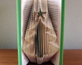 Christmas Tree - Folded  Book Art - Christmas Decoration - Holiday Ornament - Christmas Decor - Unique - Book Lover - Unique Present - Gift