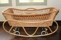Wicker crib Kuhn cradles antique retro ~ Antique pannier basket