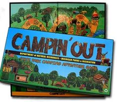 Play board games camping somewhere by headlamp