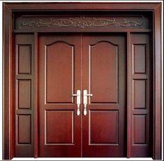 47 Ideas For Wooden Door Design Modern Double Single Wooden Door Designs, Single Front Door Designs, Wooden Double Doors, Single Door Design, Wooden Front Door Design, Double Door Design, Wooden Front Doors, Main Entrance Door Design, Room Door Design