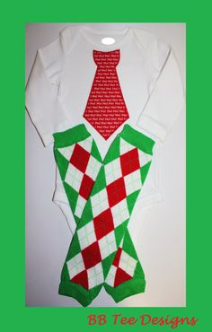 READY TO SHIPBaby Boys Christmas Tie Bodysuit and by beyondbaskets, $22.00