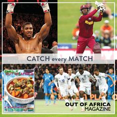 CATCH every MATCH  What is your favourite sport to catch up on? Get the exclusive highlights in our June issue. Find out whats coming up for Fathers Day weekend so you can watch a game with dad. Buy June 2016 OUT OF AFRICA Magazine - OUT NOW!  See more at http://ift.tt/1U6C1sm