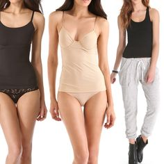Rank & Style | Top Ten Fashion and Beauty Lists - Solid Camisoles & Layering Tanks #rankandstyle #basics #tanks #nude #black #easy