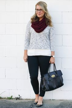 Stitch Fix: Totally a casual outfit I could wear. I have everything except the sweater, and I'm still deciding if I want to get on that style train. :)