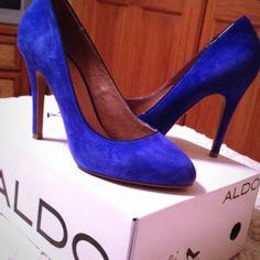 Gorgeous Aldo Blue Beach Pump Heels