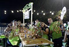 En Madrid Río presumieron orgullos@s de lámparas diy Diy Lamps, Atelier, Night
