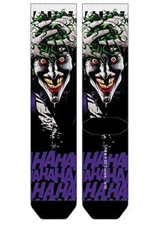 DC Comics Batman: The Killing Joke - The Joker HaHaHa Premium Sublimated Mens Crew Socks Officially Licensed DC Comi Dc Characters, Batman And Superman, Crew Socks, Dc Comics, Men's Fashion, Joker, Nerd, Geek Stuff, Superhero