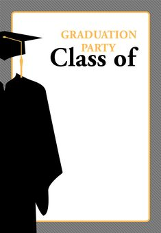 Class Of - Free Graduation Party Invitation Template