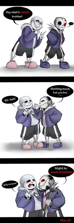 """Sans and Horrortale Sans. I am not ok with this """"Horrortale"""" adaptation of Sans."""