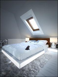 Interior design - House in Milanowek by Szymon Migaj, via Behance