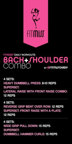 FitMiss Back + Shoulder Combo Workout