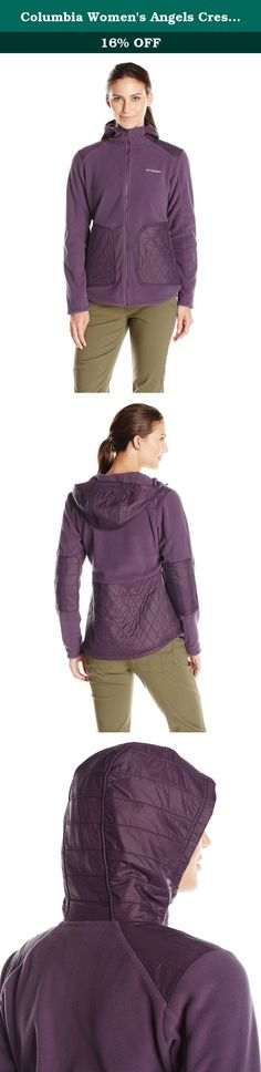 Columbia Women's Angels Crest Jacket, Dusty Purple, Medium. Being an industry leader in outdoor apparel and products takes passion, and an understanding of people who love the outdoors as much as we do. That's why, from cutting edge technology, to our innovative heritage in Bugaboo, our jackets, pants, fleece, boots, and shoes are all tested tough so you can enjoy the outdoors longer.