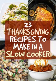 Make these Thanksgiving dishes in a slow cooker and give your oven a break! #PurelyPoultry