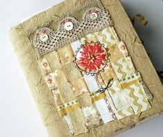 Art quilt journal--pink geranium by Rebecca Sower, via Flickr