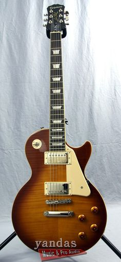 Epiphone Les Paul Standard Plus Top Pro Electric Guitar What can you say about the legendary Les Paul that hasn't been said already? Well Epiphone has taken it a step further with the Les Paul Standar