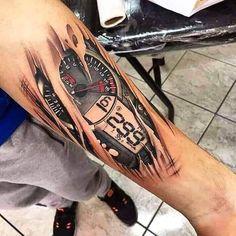 Badass tattoo 😍 - Tattos and body art - Bike Tattoos, Motorcycle Tattoos, Badass Tattoos, Tattoos For Guys, Motorcycle Bike, Tattoo Sleeve Designs, Tattoo Designs Men, Sleeve Tattoos, Motocross Tattoo