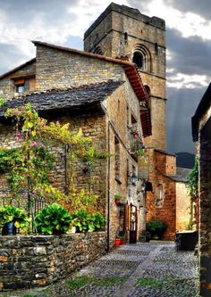 Ainsa, Huesca, Comunidade Autônoma de Aragão, Espanha.