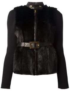 GUCCI - Black fur panel jacket. Now on sale!  #gucci #sales #guccisales #guccijackets #guccifur www.woman.jofre.es