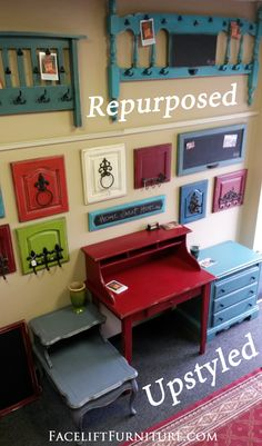 Repurposed Wall Pieces & Upstyled Furniture - Facelift Furniture DIY Blog